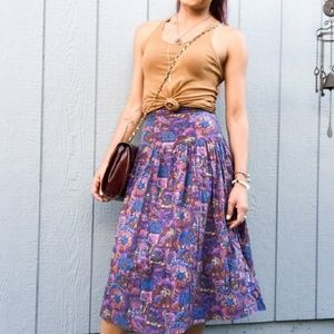 VINTAGE 80s Handmade Cotton Skirt